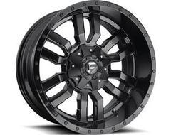 Fuel Off-Road Wheels D596 SLEDGE - Matte Black - Gloss Black lip