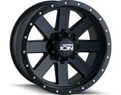 Ion Wheels 134 Series - Matte Black - Black BeadLock