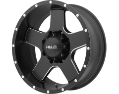 Helo HE886 Series Wheels - Satin black with milled spokes and flange