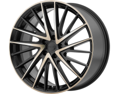 KMC Wheels KM697 NEWTON - Satin Black - Machined Face and Tinted Clear