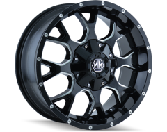 Mayhem WARRIOR 8015 Series Wheels - black with milled spokes