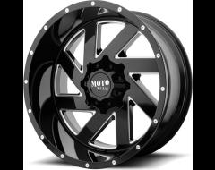Moto Metal MO988 MELEE Series Wheels - Gloss black milled