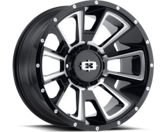 Vision Wheels 391 Rebel - Gloss Black - Milled spokes