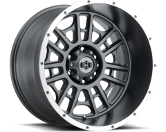 Vision Wheels 418 Widow - Satin Grey - Machined lip