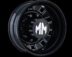 Mayhem BIGRIG 8180 Series Wheels - rear black with milled spokes