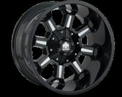 Mayhem COMBAT 8105 Series Wheels - gloss black with milled spokes