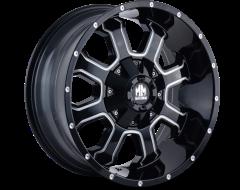 Mayhem FIERCE 8103 Series Wheels - gloss black with milled spokes