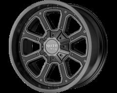 Moto Metal Wheels MO984 SHIFT - Matte Grey - Gloss Black Inserts
