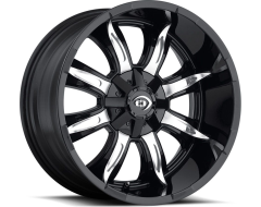 Vision Wheels 423 Manic - Gloss Black - Machined Face