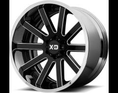 XD Series Wheels XD200 HEIST - Gloss Black Milled - Chrome Lip