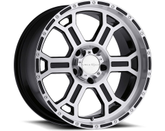Vision Wheels 372 Raptor - Gloss Black - Mirror Machined Face and Lip