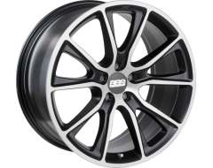 BBS SV Series Wheels - Black with diamond-cut face, clear protective top coat.