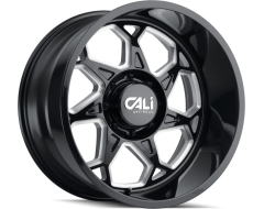 Cali Off-Road SEVENFOLD 9111 Series Wheels - gloss black with milled