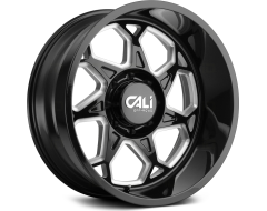 Cali Off-Road SEVENFOLD 9111 Series Wheels - gloss black with milled spokes