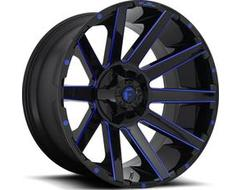 Fuel Off-Road Wheels D644 CONTRA - Gloss Black - Blue tinted clear