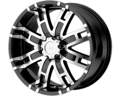 Helo Wheels HE835 - Gloss Black - Machined