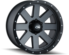 Ion Wheels 134 Series - Matte Gunmetal - Black BeadLock