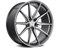 Vossen HF3 Series Wheels - Gloss graphite with polished face