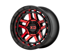XD Series Wheels XD140 RECON - Gloss Black Machined With Red Tint