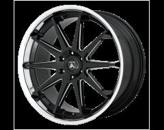 Asanti Wheels ABL-29 EMPEROR - Gloss Black - Milled With Chrome Lip