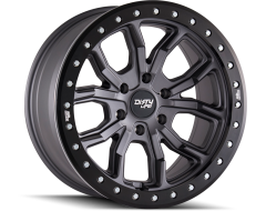 Dirty Life Wheels DT-1 9303 Series - Matte Gunmetal - Black simulated ring