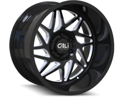 Cali Off-Road Wheels 9112 Series Gloss Black/Milled Spokes Gemini