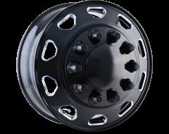 Ion Wheels IB02 Series - Front Black - Milled spokes