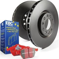 EBC Brakes Stage 12 Brake Kit - Redstff Ceramic Pads and RK Rotors