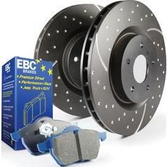 EBC Brakes Stage 6 Brake Kit - Bluestuff NDX Pads and Black GD Rotors