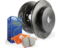 EBC Brakes Stage 7 Brake Kit - Orangestuff Pads and Black BSD Rotors