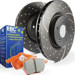 EBC Brakes Stage 8 Brake Kit - Orangestuff Pads and Black GD Rotors