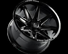 AXE Wheels ARTEMIS - Gloss Black - Milled Edge