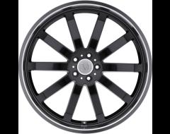 Mandrus Wheels WILHELM - Gloss Black - Mirror cut lip