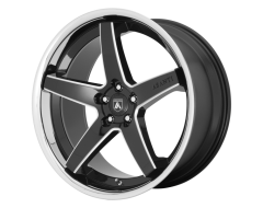 Asanti Wheels ABL31 REGAL - Gloss Black - Milled With Chrome Lip