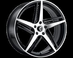 Kraze Wheels COSMOS KR194 Series - Black - Machined Face