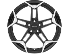 Petrol Wheels P1A - Gloss Black - Machined cut face