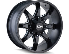 Ion Wheels 181 Series - Satin Black - Milled spokes