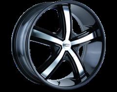 DIP Wheels BOOST D69 Series - Black - Machined Face