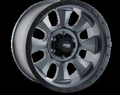 Dirty Life Wheels IRONMAN 9300 Series - Matte Gunmetal - Black BeadLock