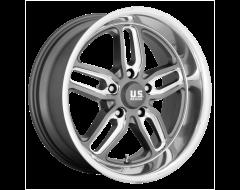 US MAG Wheels U129 CTEN - Matte Gunmetal - Milled