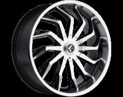 Kraze Wheels SCRILLA KR142 Series - Black - Machined