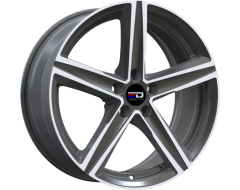 EURO DESIGN Wheels Spa - Gunmetal - Polished