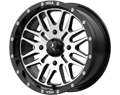 MSA Wheels M38 BRUTE - Gloss Black - Machined