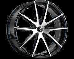 Kraze Wheels TURISMO KR193 Series - Black - Machined Face