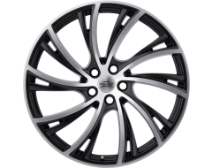 Redbourne Wheels NOBLE - Matte Black - Matte machined face