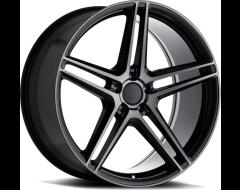 Mandrus Wheels BREMEN - Semi Gloss Black - Mirror cut face and translucent clear