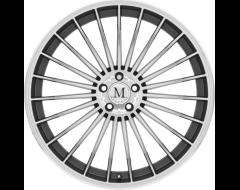Mandrus Wheels 23 - Gunmetal - Mirror cut face