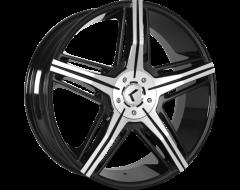 Kraze Wheels HYPE KR158 Series - Black - Machined