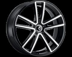 Kraze Wheels LUSSO KR190 Series - Black - Machined Face