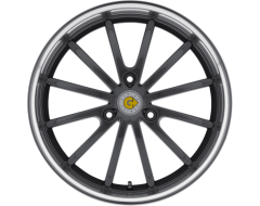 Genius Wheels DARWIN - Gunmetal - Mirror cut lip
